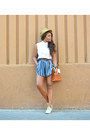 Light-blue-bimba-lola-shoes-camel-desigual-hat-white-pull-bear-shirt