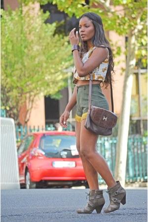 tawny vintage top - dark brown Hermes bag
