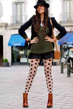 Zara boots - Zara sweater - BLANCO blazer - Zara skirt