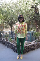neon yellow Old Navy shirt - Maxx New York purse - Polo Ralph Lauren sunglasses