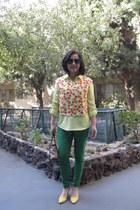 neon yellow Old Navy shirt - Maxx New York purse - Polo Ralph Lauren sunglasses