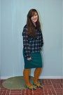 Teal-target-skirt-navy-modcloth-shirt-mustard-h-m-stockings