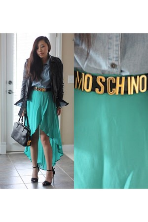 Zara jacket - Rag bone shirt - Miu Miu bag - Forever 21 skirt - Zara sandals