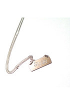 LIMITED EDITION- Personalized Name Necklace - silver pendant on 40cm