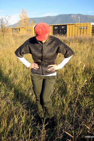 Jones New York pants - vintage jacket - liz claiborne hat - Steve Madden boots