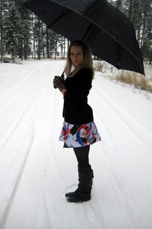 Steve Madden boots - thrifted vintage skirt