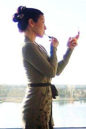 heather gray feminine grace alloy cardigan