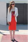 White-white-river-island-blazer-hot-pink-versace-scarf