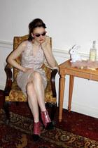 vintage dress - asos boots - River Island glasses