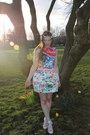 Mary-katrantzou-dress-chartreuse-vintage-bag-white-topshop-socks