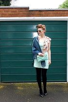 dress - denim bomber Topshop jacket - River Island shirt - H&M Trend accessories