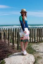 Primark skirt - H&M hat - Primark shirt - H&M bag - Dorothy Perkins wedges