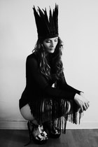 black Limited Miss Selfridge romper - black boutique wedges