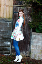 cowgirl boots Topshop boots - Mary Katrantzou dress - Atmosphere shirt