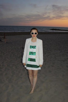 camden boutique dress - white blazer River Island blazer