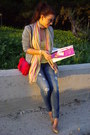 Beige-strativarious-blazer-hot-pink-zara-bag-yellow-bershka-t-shirt-nude-s
