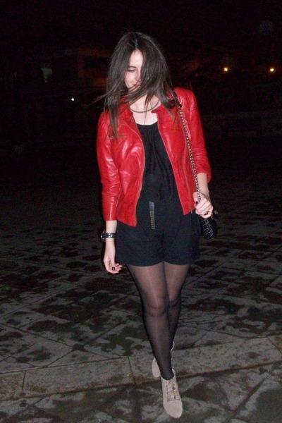 Zara boots - Zara jacket - Zara bag