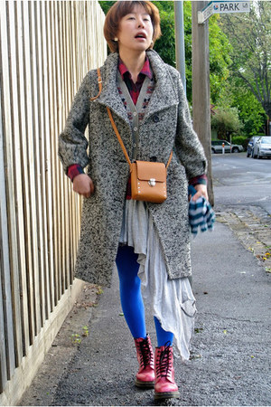 oversized benetton coat - 8holes DrMartens boots