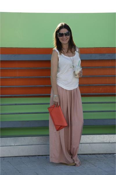 Light Pink Maxi Skirt Bershka Skirts, Coral Zara Bags, Camel ...