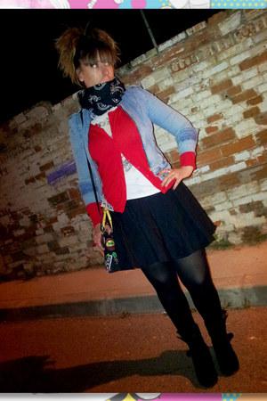 Bershka blazer - Barbarella bag - Zara t-shirt - DIY skirt