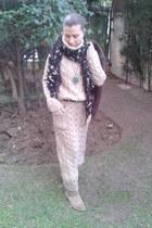 ante boots - lana dress - ante blazer - lana scarf