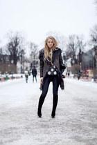black maison martin margiela boots - charcoal gray Muubaa coat