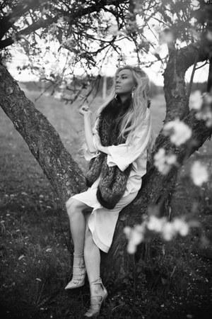 kimono H&M bodysuit - Kurt Geiger heels - Marni H&M earrings