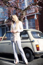 Zara jacket - COS shirt - acne pants - Kurt Geiger heels - Michael Kors watch