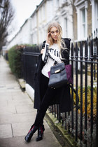 purple Z Spoke by Zac Posen bag - magenta Kurt Geiger boots - black H&M coat