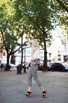 Zara top - Prada sunglasses - Marimekko pants - Zara heels