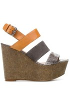 ZARA TRI-TONE WIDE STRAP WEDGES