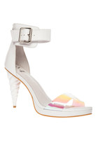 Jeffrey Campbell Unicorn Heels In White Iridescent (6-9)