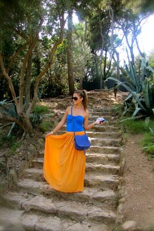 Zara skirt - Minelli bag - Bershka bodysuit