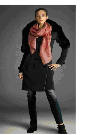 786style coat - boots - jeans - scarf