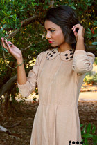 light brown polka dots 8000 nerves dress