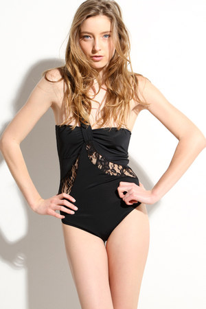black lace Tavik swimwear
