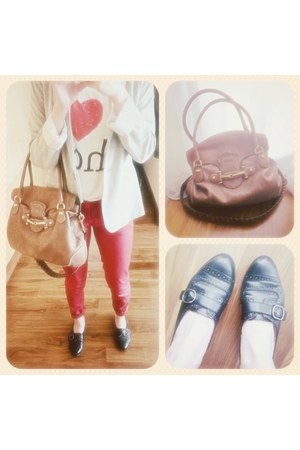 Topshop jeans - Zara jacket - Forever 21 shirt - Gucci bag - new look loafers
