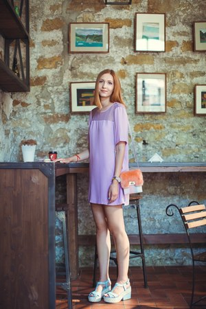 light purple asos dress