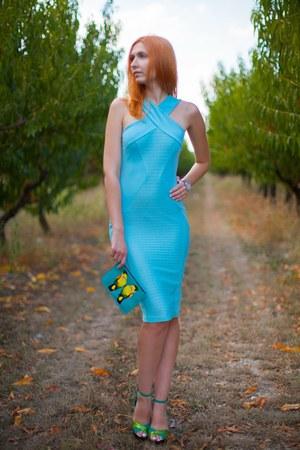 sky blue asos dress