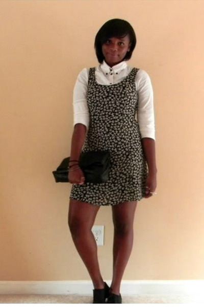 Cathy Jean shoes - H&M dress - Forever 21 shirt - Chinese Laundry bag
