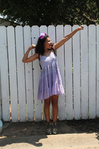 amethyst vintage dress - heather gray Miss Roberta boots