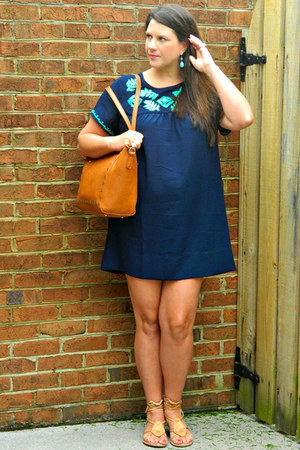 navy Southern Bella Boutique dress - tawny BP bag