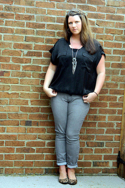 Charlotte Russe necklace - Old Navy jeans - francescas top - Target flats