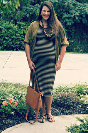 Old Navy dress - camel Nordstrom bag - army green Loft cardigan