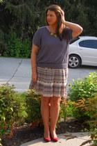 francescas skirt - Loft shirt - Vestiquecom necklace - Payless wedges