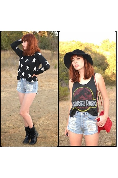 stars sweater Forever 21 jumper - boots Via Roma boots - Forever 21 shirt