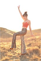 bell bottoms Novella Royale pants - crop top free people bra
