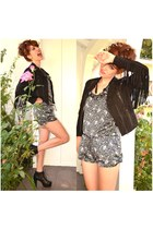 fringe jacket Very By vero jacket - lace up boots Jeffrey Campbell boots