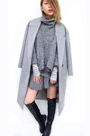 wool A GAME ARTISTS coat - wool Zara sweater - cashmere brandy melville sweater