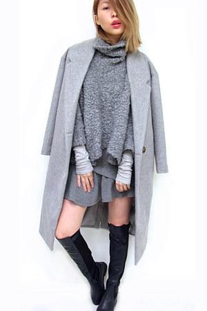 wool A GAME ARTISTS coat - wool Zara sweater - cashmere brandy melville sweater